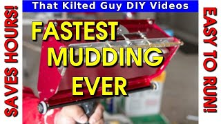 Mudding Drywall FAST! with a Level 5 Mud Box Demonstration- 30' in 10 seconds