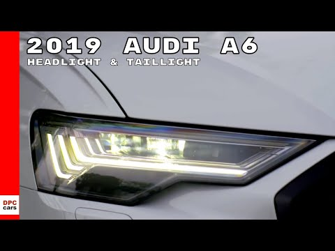 2019 Audi A6 Headlight & Taillight Demonstration