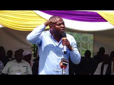 When the new Sports Cabinet Secretary Rashid Achesa with Senator Wetangula in public