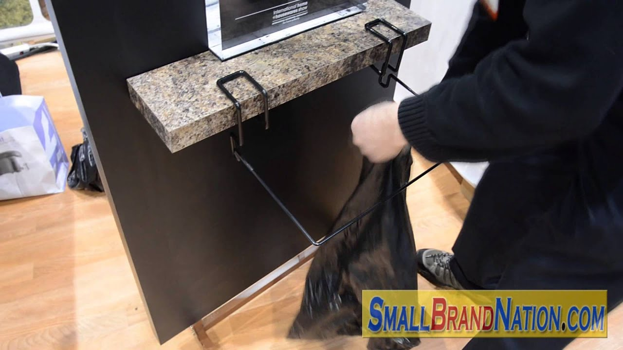 Trash Ease Trash Bag Hanger Attaches To Tables Gadget