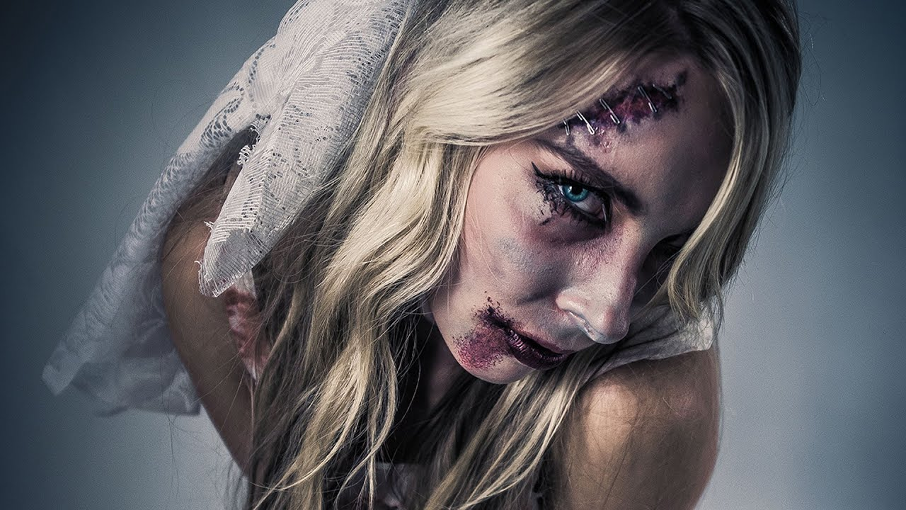 schauriges zombiebraut halloween make up kost m tutorial youtube. Black Bedroom Furniture Sets. Home Design Ideas