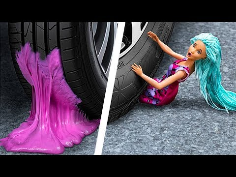 Crushing Crunchy And Soft Things By Car! Squishy, Floam, Slime, Bath Bombs And More