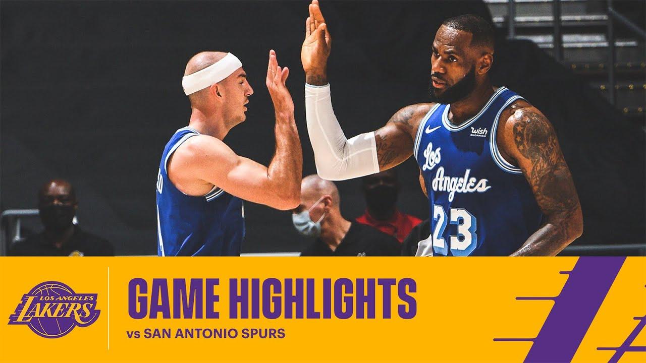 HIGHLIGHTS   Los Angeles Lakers vs San Antonio Spurs - YouTube