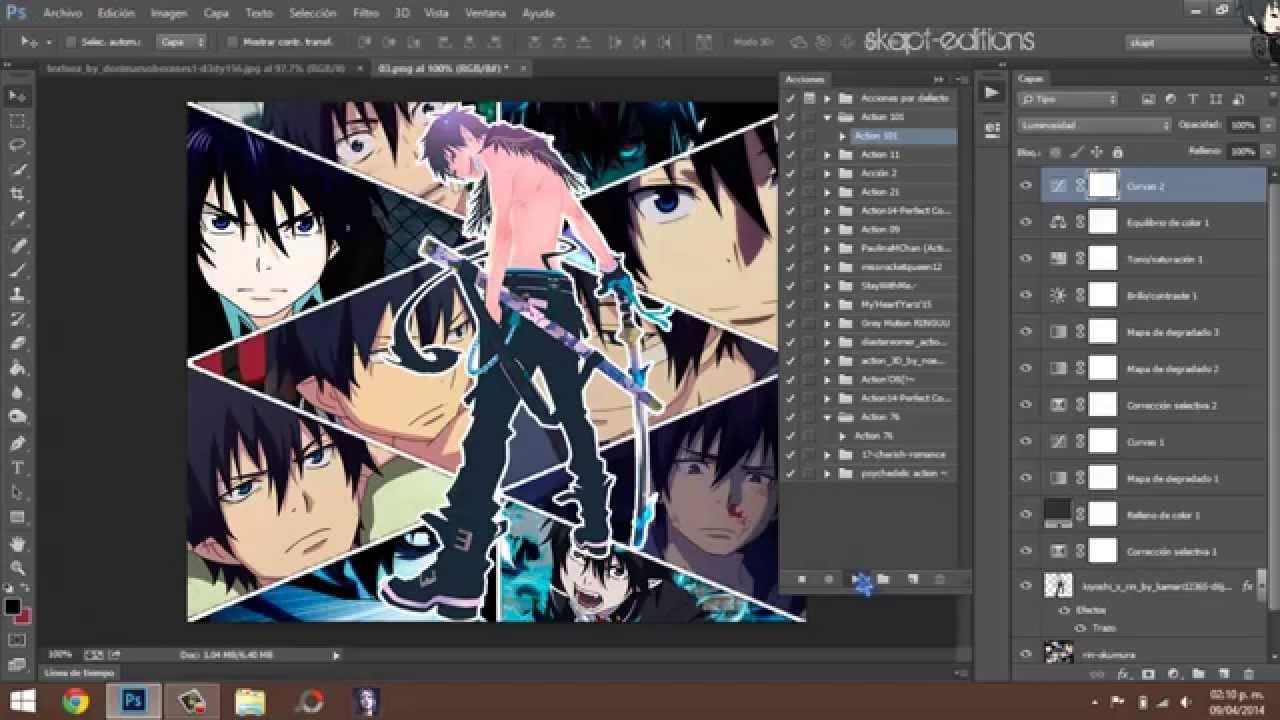Tutoriales Photoshop Como Hacer Un Collage De Anime