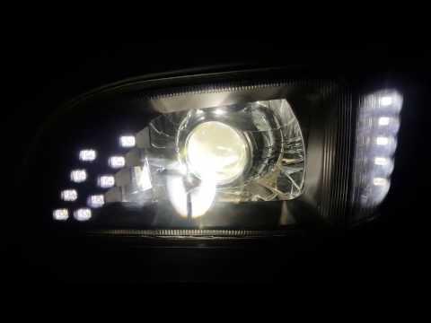 Фары оптика би ксенон led дхо Toyota Hiace 1UZ FE VVTi.Новосибирск.