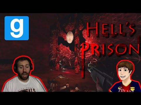 GMod Horror Map: Hell's Prison: SO MANY MONSTERS
