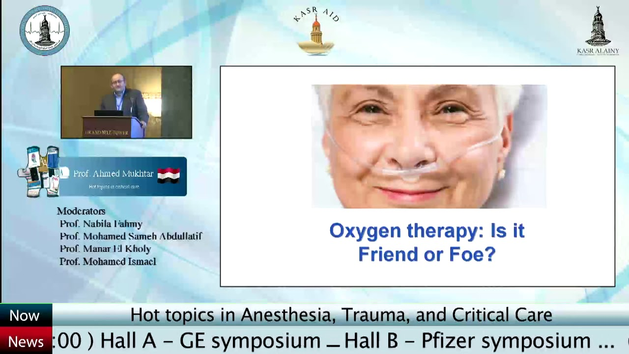 Hot topics in critical care  Dr  Ahmed Mukhtar