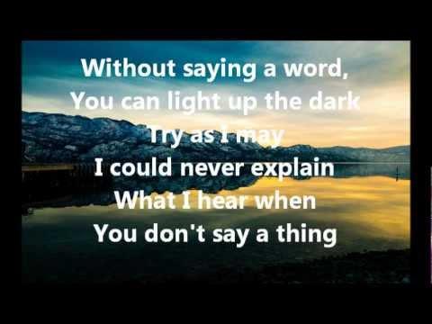 When You Say Nothing At All Ronan Keating Hd Instrumental W Lyrics Youtube
