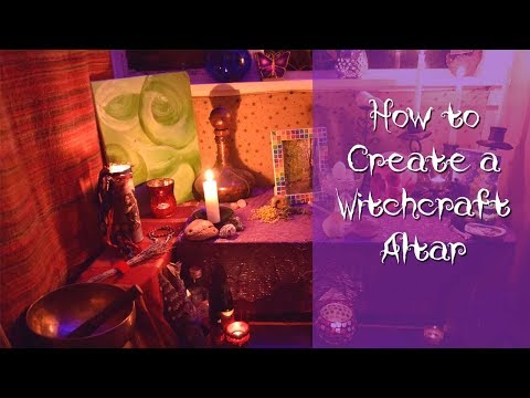 START TO FINISH How I set Up My Pagan Witchcraft Altar