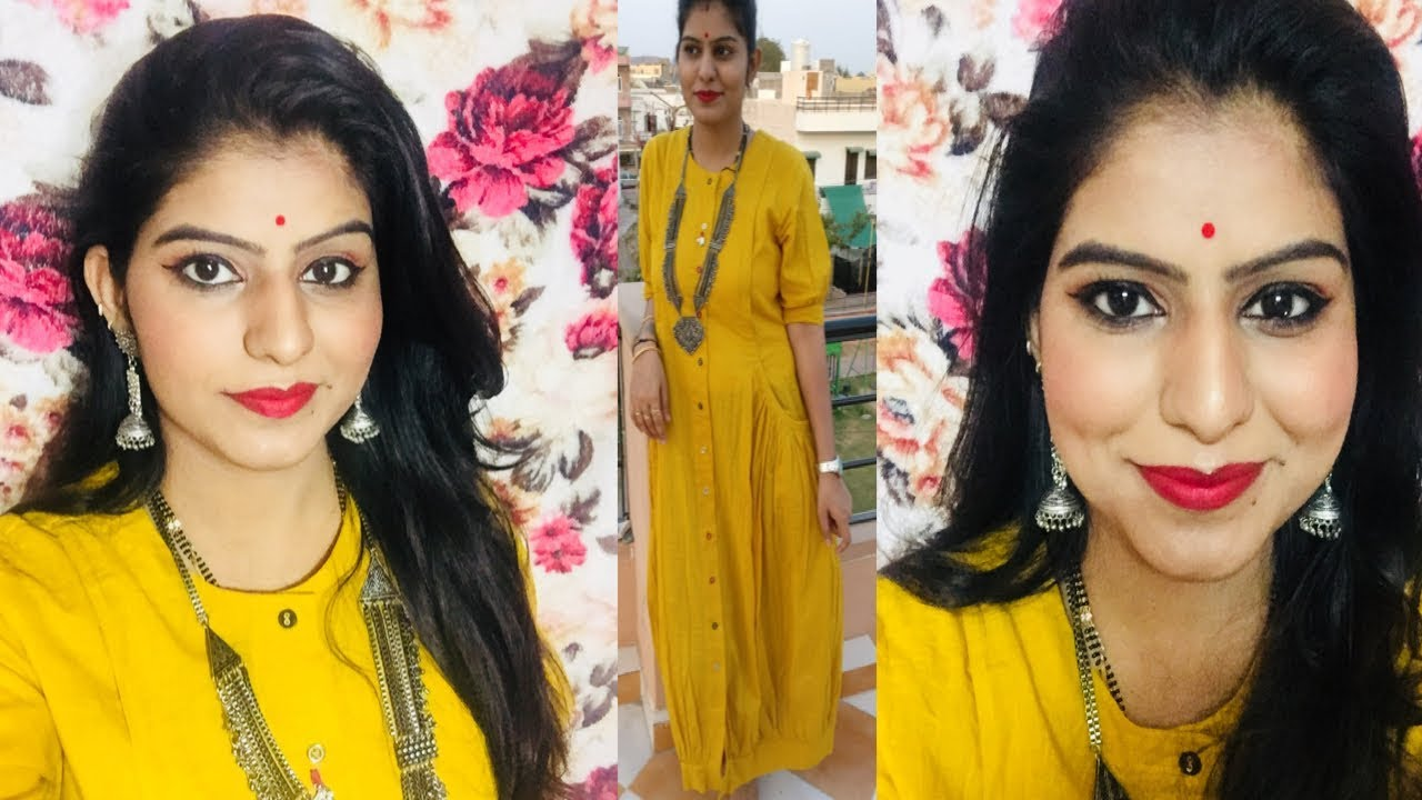 Indian Festive Summer Makeup Look Makeup For Yellow Dress Youtube