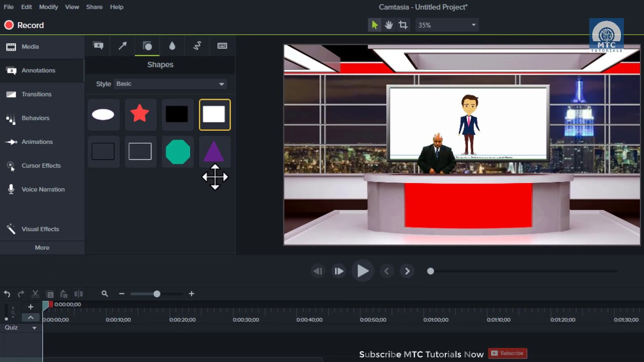Creating Studio Desk In Camtasia | Working On Green Screen