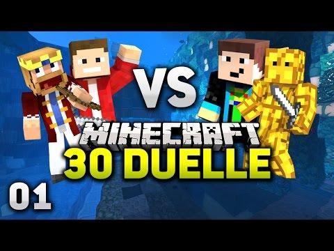BEGINN des ABENTEUER BATTLES! - Minecraft 30 DUELLE #1 - Team GommWaffel