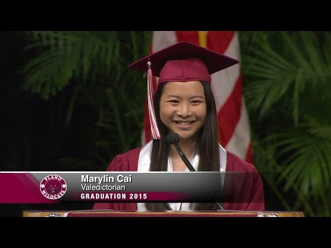Plano Senior High School 2015 Valedictorian Marylin Cai delivers address