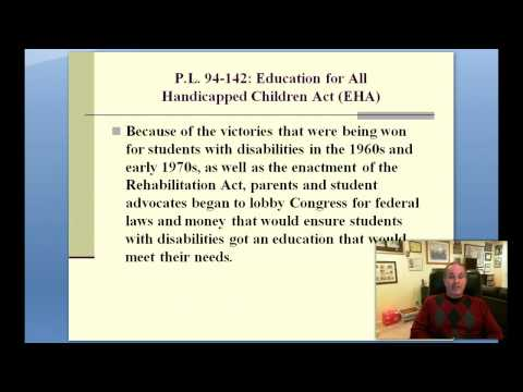 Part 4--History of Legal Issues in Special Education