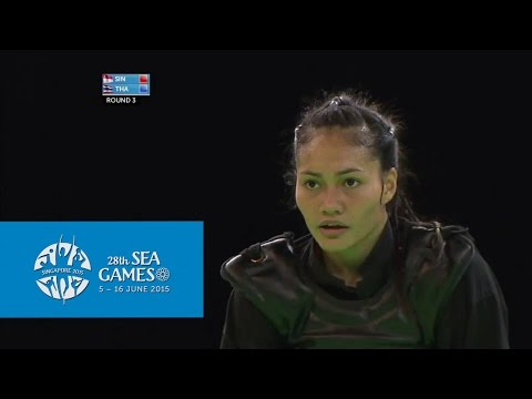 Pencak Silat Women's Tanding Class D Singapore vs Thailand (Day 7) | 28th SEA Games Singapore 2015