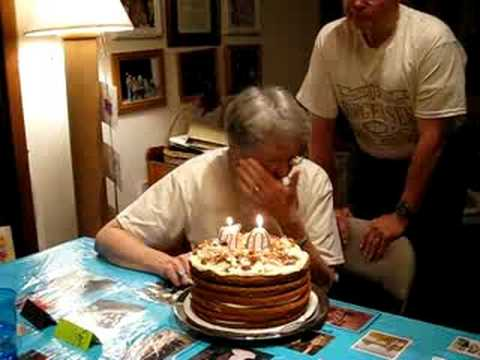 Grandma's 70th Birthday Cake - YouTube
