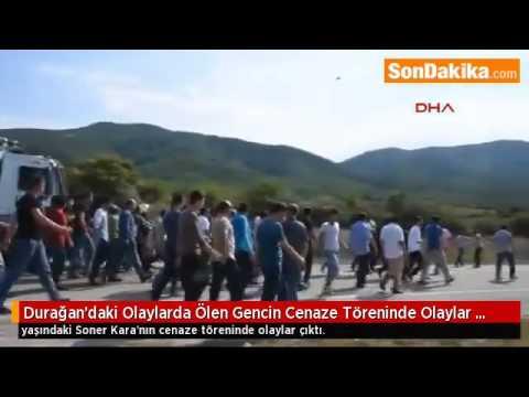 Durağan'daki Olaylarda Ölen Gencin Cenaze Töreninde Olaylar Çıktı