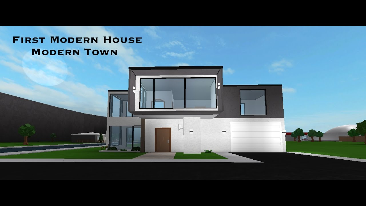 Bloxburg speedbuild modern house 1 modern town part 1 for Modern house 7 part 2