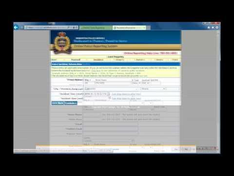 Online Crime Reporting Tutorial