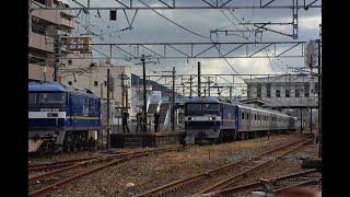 JR九州 821系 9B    甲種輸送 (1056レ 新車 EF201-328 牽引)