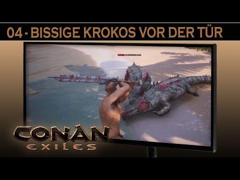 Conan Exiles - #4 Bissige Krokodile Vor Der Tür ⚔ Conan Exiles German Gameplay Deutsch