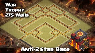 Clash of Clans - Town Hall 10 Trophy/War Best Anti-2 Star Base | 275 Walls