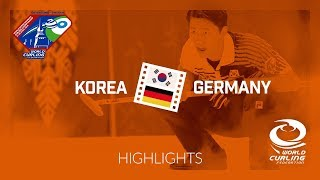 HIGHLIGHTS: Korea v Germany - World Mixed Doubles Curling Championship 2018