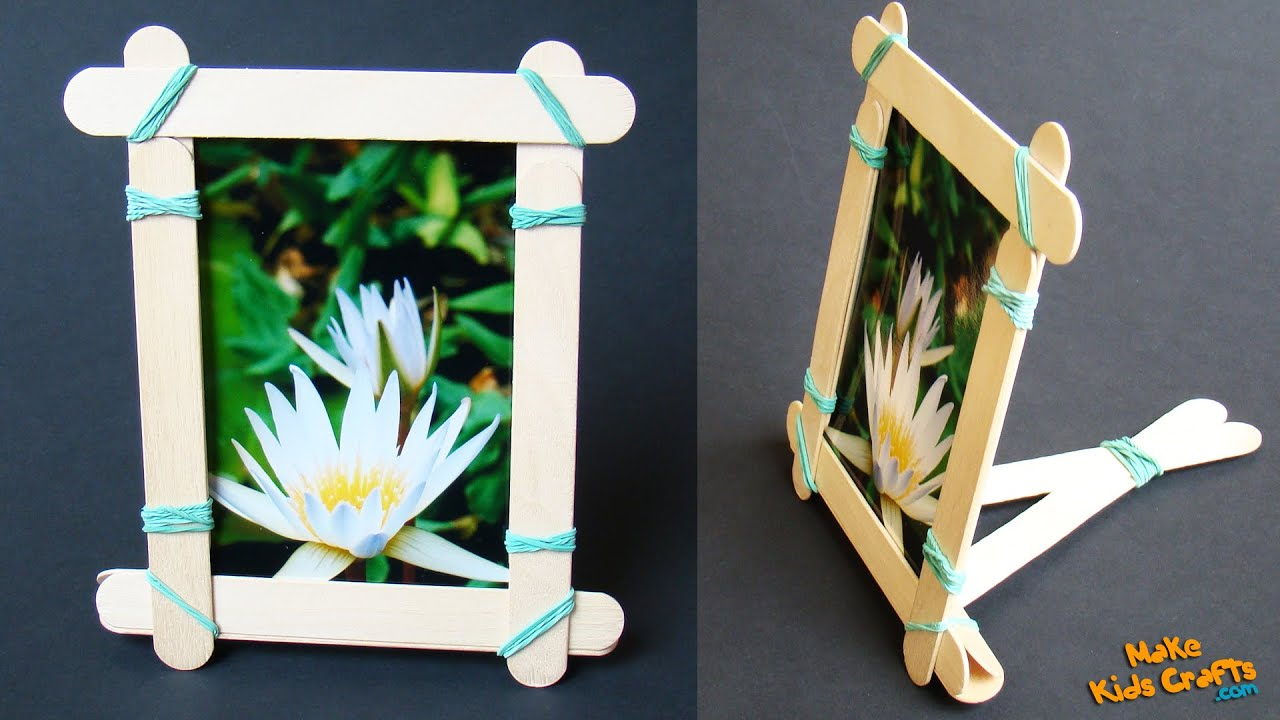 How To Make A Popsicle Stick Picture Frame Youtube