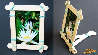 How to make a Popsicle Stick Picture Frame?