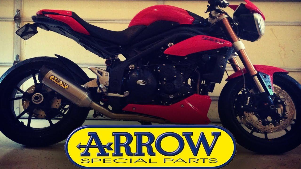 Arrow Sound Test 3 1 Lowboy Exhaust On Triumph Speed Triple 1050