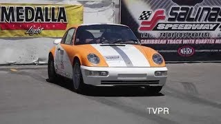 EDDIE BELLO Porsche Turbo Crash at Puerto Rico Exotic Roll Race Challenge.