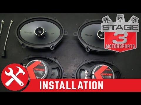 2008-2016 F250/F350 Super Duty Kicker KSC68 6x8 Speaker Upgrade Kit Install