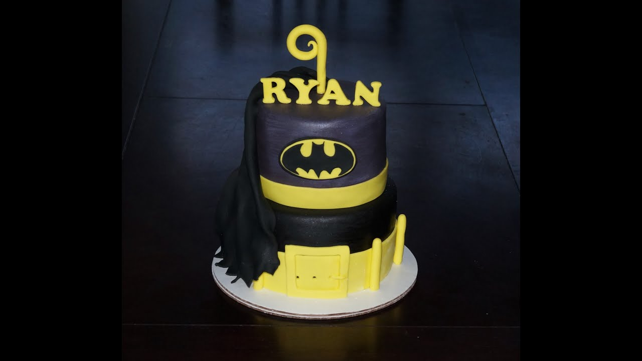 Cake decorating tutorial How to make a batman fondant logo
