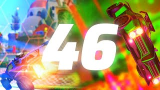 ROCKET LEAGUE INSANITY 46 ! (BEST GOALS, 199 KPH PINCH, INSANE WAVE DASHES)