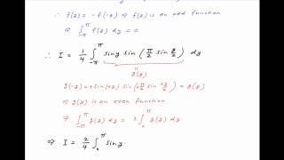 Find the integral of x*sin2x*sin [(PI/2)*cosx ] / (2x - PI) between the limits 0 and PI.