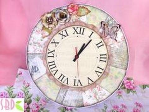 DIY Shabby chic Clock - ENG Series