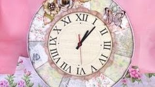 Diy Shabby Chic Clock - Eng Series