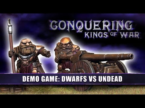 Conquering Kings of War - Demo Game: Dwarfs Vs Undead