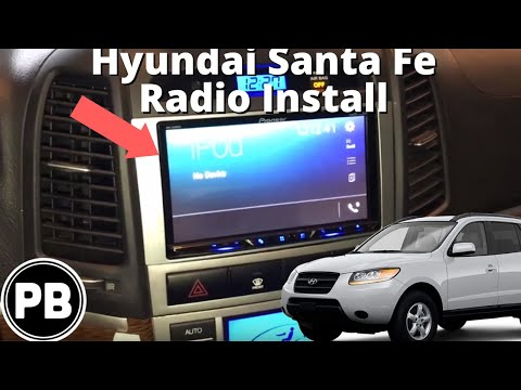 2007 - 2012 SantaFe Touch Screen Stereo Install