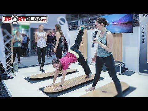 ISPO 2018: Indoor Yoga-Board bringt SUP-Yoga ins trockene Gym