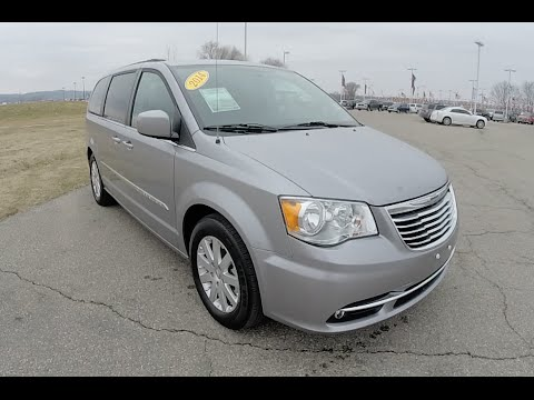 2014 Used Chrysler Town & Country Touring Silver | Minivan For Sale Indianapolis, IN | P10116