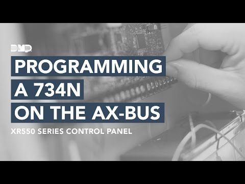 How to Program a 734N on the AX-Bus of an XR550 - YouTube