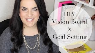 DIY Vision Board | 2016 Goal Setting How To