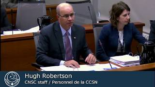 CNSC staff present on REGDOC-1.1.1 (March 15, 2018)
