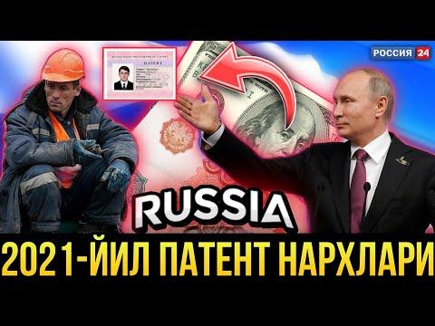 ПАТЕНТ НАРХЛАРИ 2020-ЙИЛ | УЗБЕКЛАР КУРИНГЛАР