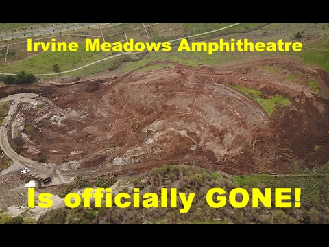 Irvine Meadows Amphitheatre is GONE! - aerial drone 4K