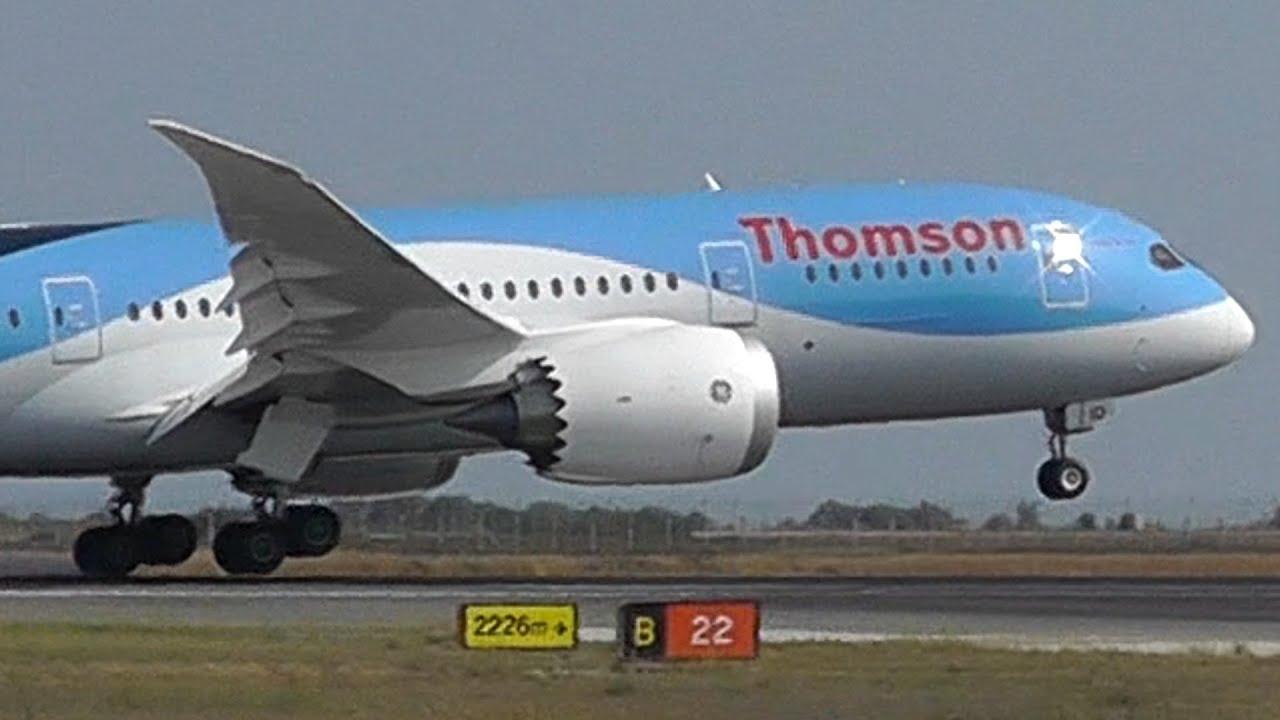 First 787 at LCA! Landing, Takeoff, External views| Thomson 787-8 | Unique  views!