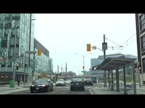 Waterloo Region ION LRT New Line On King St From Victoria St To William St
