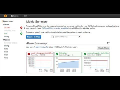 Setting AWS Billing Alarms