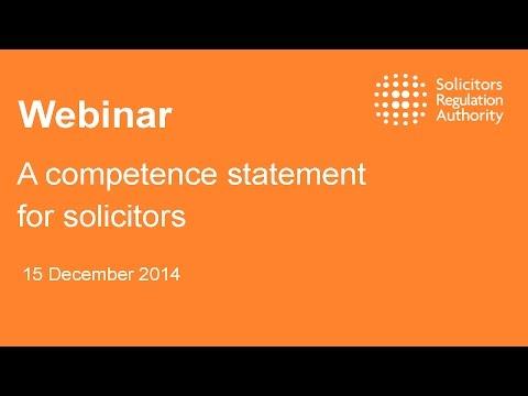 A competence statement for solicitors